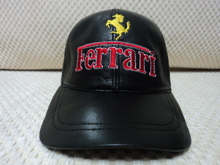 Ferrari Leather Black Baseball Hat Cap [BUY 1 GET 1 FREE]