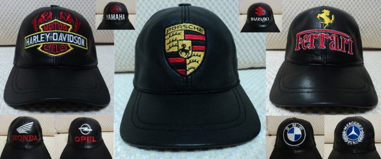 Leather Black Baseball Hat Cap [BUY 1 GET 1 FREE] Porsche Ferrari Harley Davidson ...